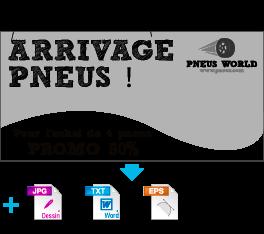 Tarifs maquette - Adaptation croquis texte + logo